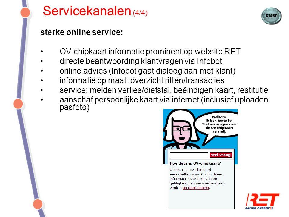 Servicekanalen (4/4) sterke online service:
