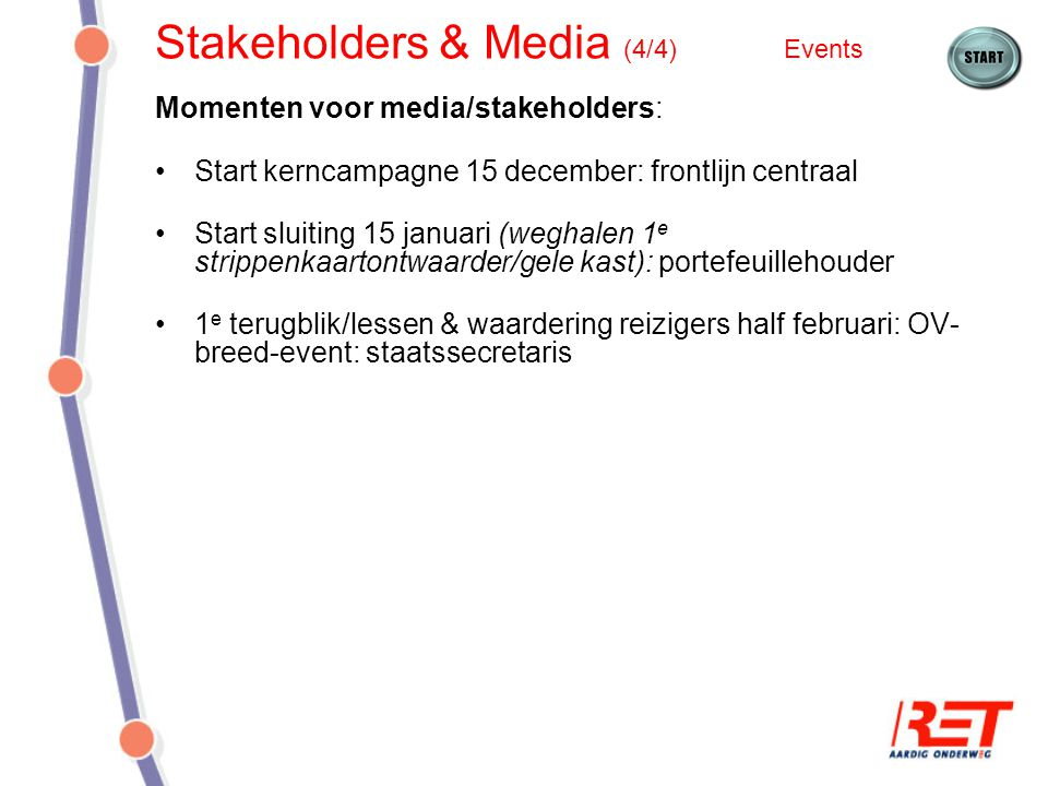 Stakeholders & Media (4/4) Events