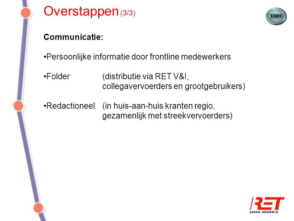 Overstappen (3/3) Communicatie: