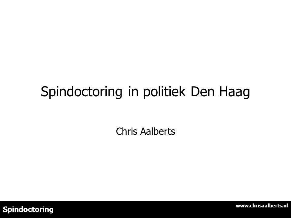 Spindoctoring in politiek Den Haag