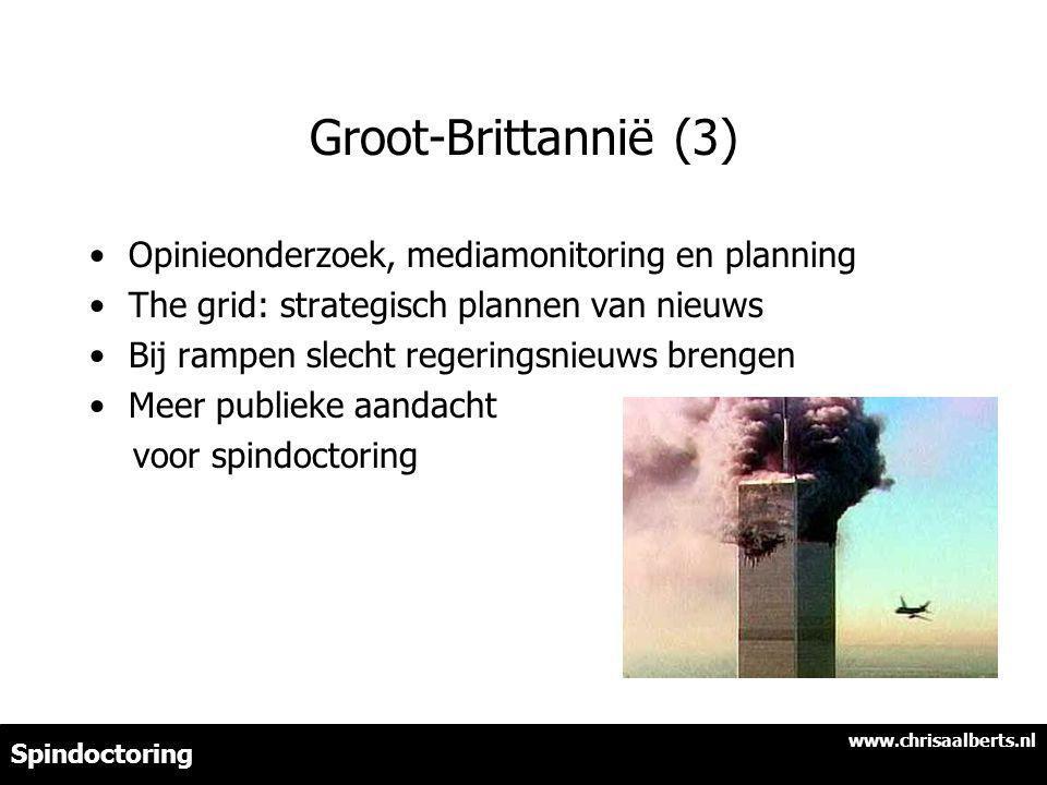 Groot-Brittannië (3) Opinieonderzoek, mediamonitoring en planning