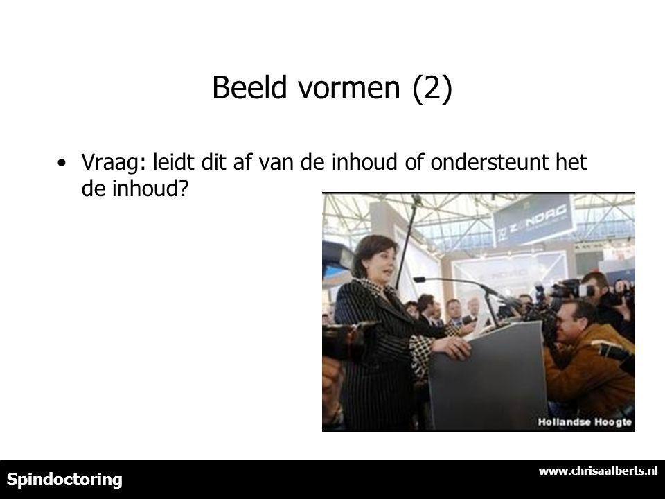 Beeld vormen (2) Vraag: leidt dit af van de inhoud of ondersteunt het de inhoud www.chrisaalberts.nl.