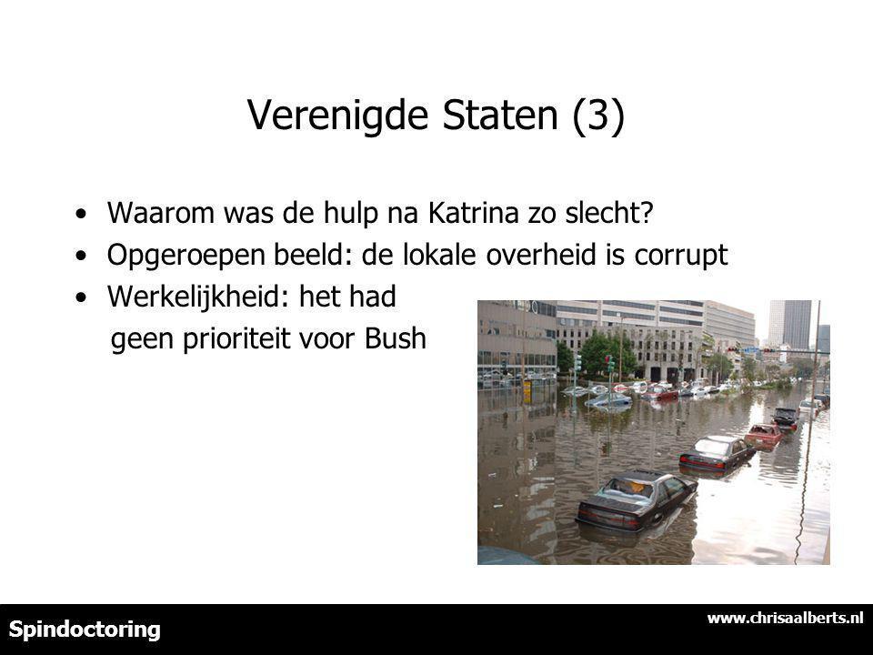 Verenigde Staten (3) Waarom was de hulp na Katrina zo slecht