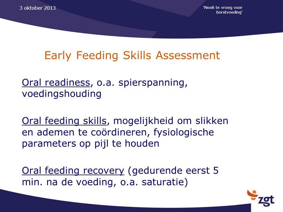Early Feeding Skills Assessment