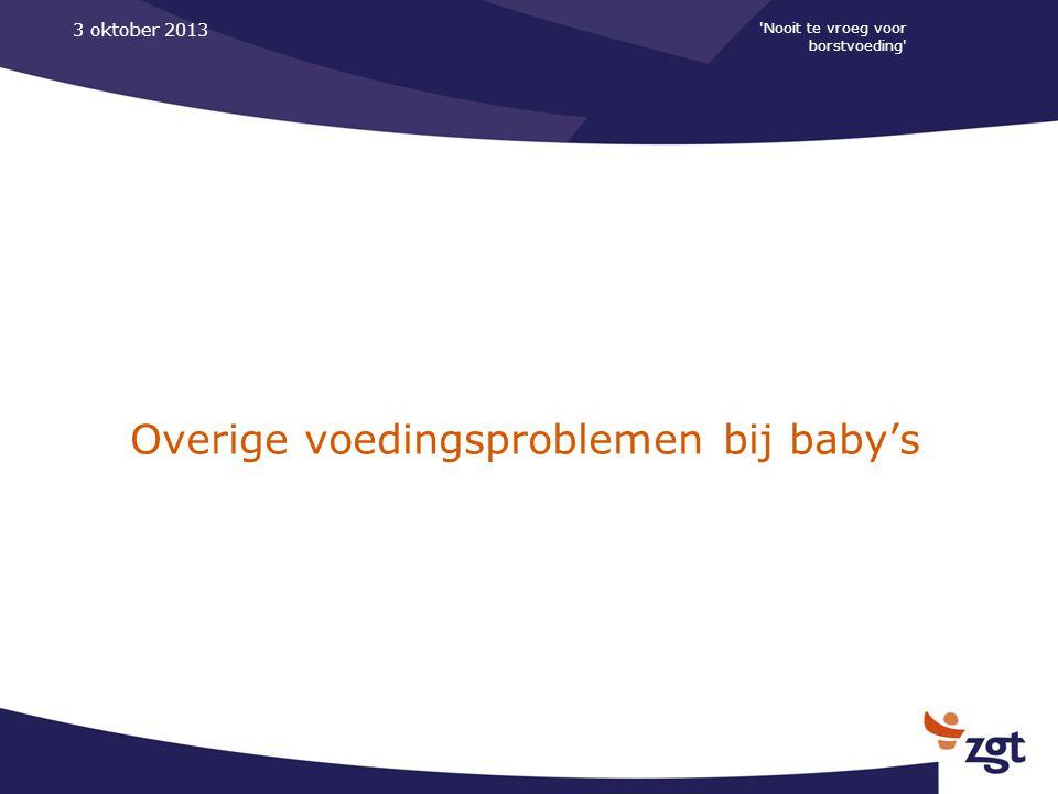 Overige voedingsproblemen bij baby's