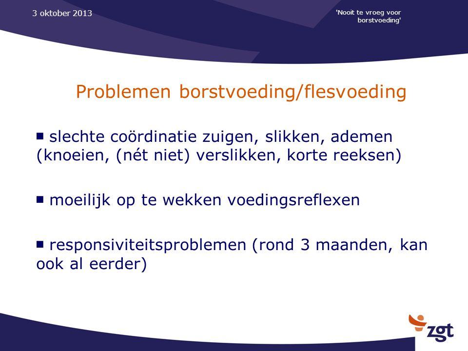 Problemen borstvoeding/flesvoeding
