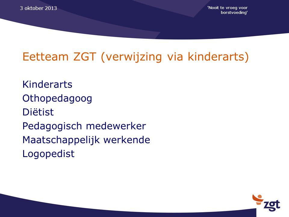 Eetteam ZGT (verwijzing via kinderarts)