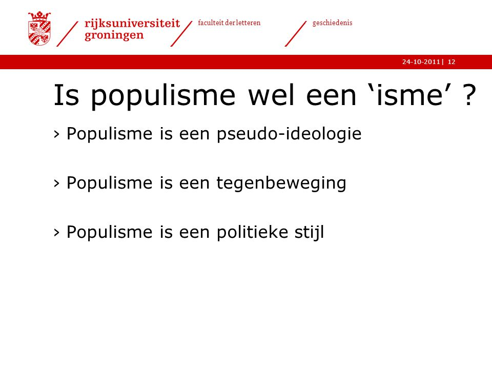 Is populisme wel een 'isme'