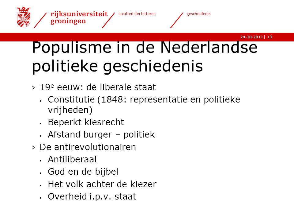 Populisme in de Nederlandse politieke geschiedenis