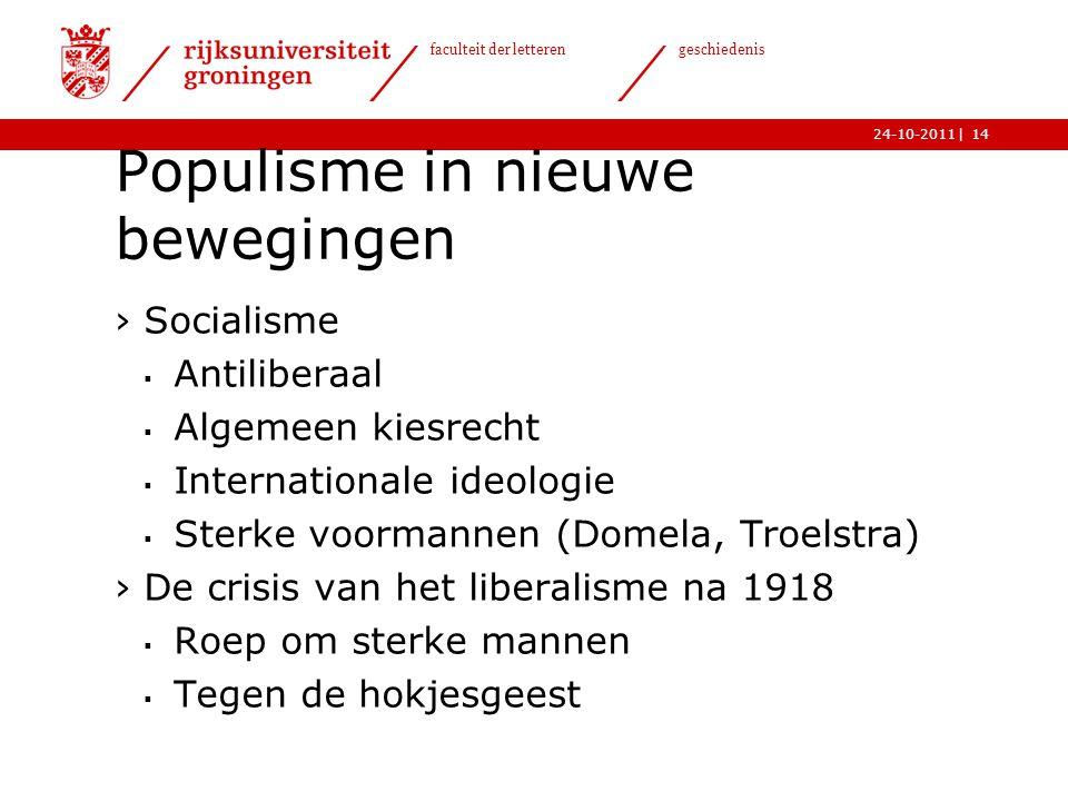 Populisme in nieuwe bewegingen