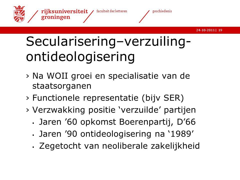 Secularisering–verzuiling-ontideologisering