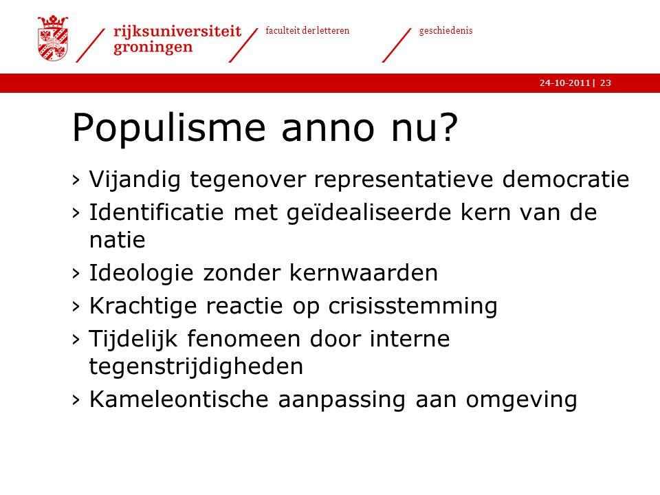 Populisme anno nu Vijandig tegenover representatieve democratie