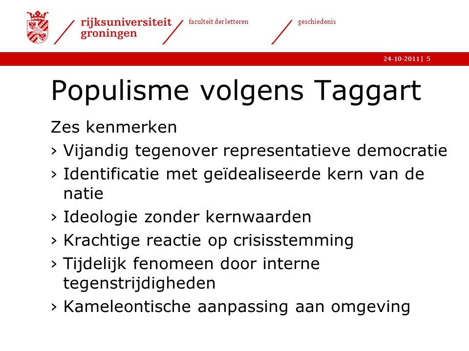 Populisme volgens Taggart