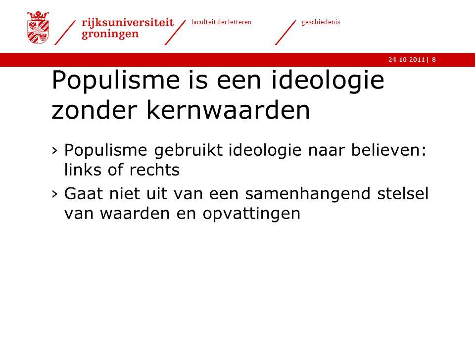 Populisme is een ideologie zonder kernwaarden
