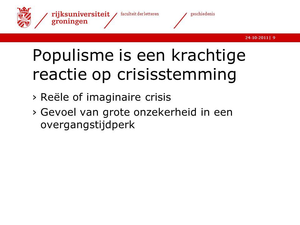 Populisme is een krachtige reactie op crisisstemming