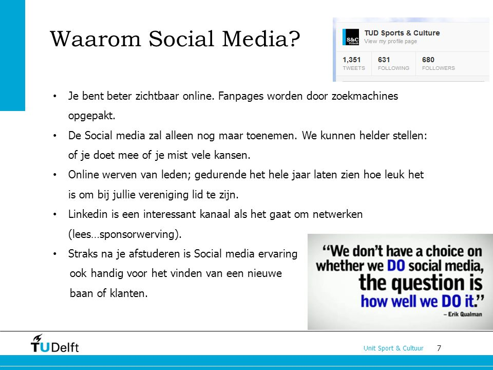 Waarom Social Media Je bent beter zichtbaar online. Fanpages worden door zoekmachines opgepakt.