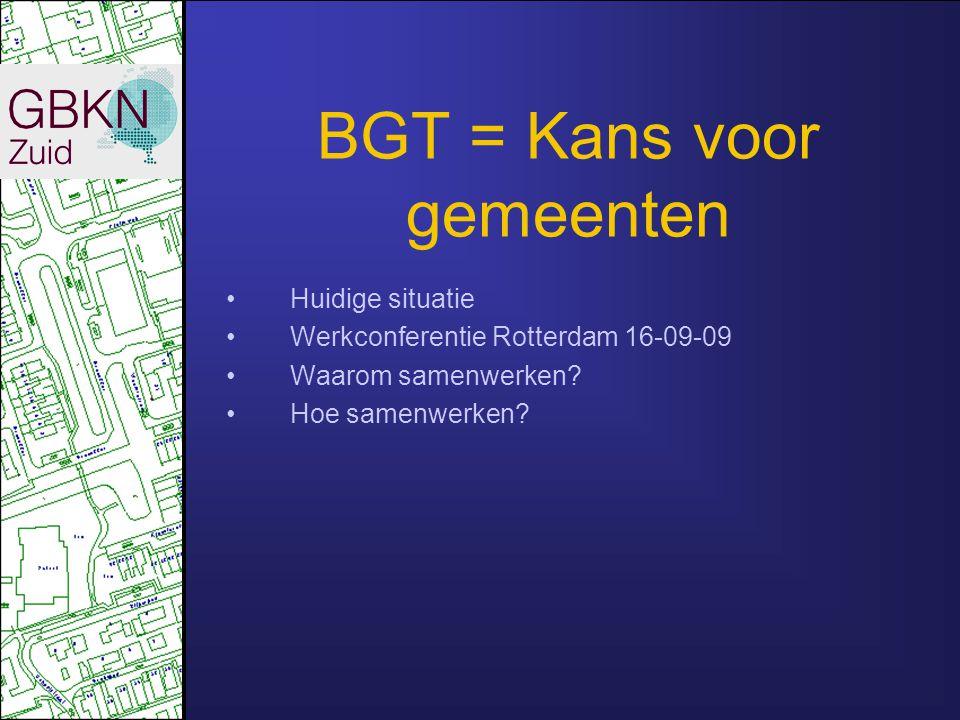 BGT = Kans voor gemeenten