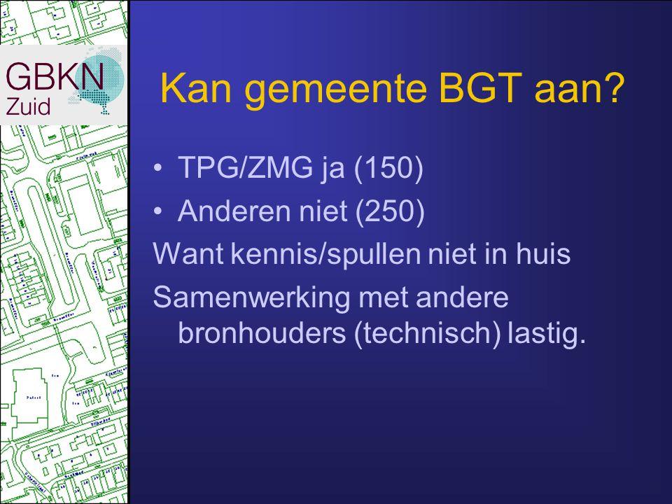 Kan gemeente BGT aan TPG/ZMG ja (150) Anderen niet (250)
