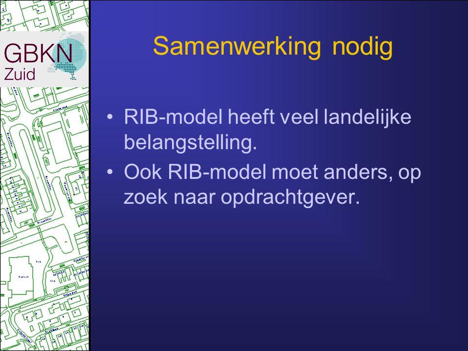 Samenwerking nodig RIB-model heeft veel landelijke belangstelling.