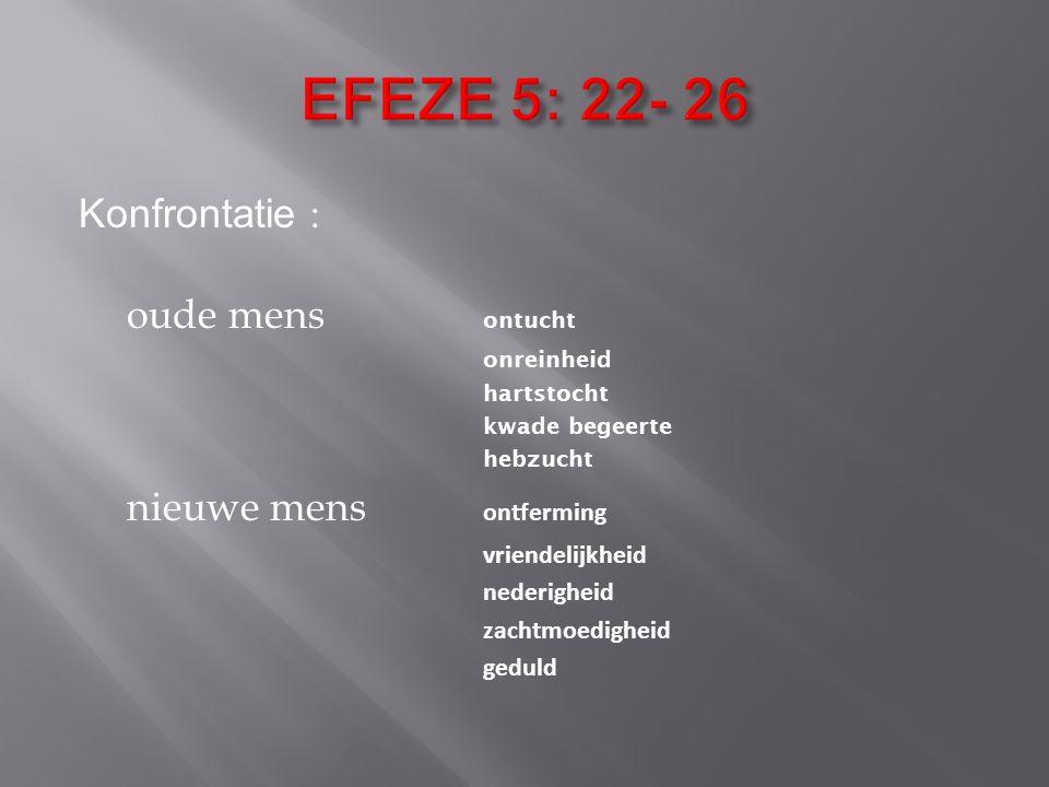 EFEZE 5: 22- 26 Konfrontatie : oude mens ontucht