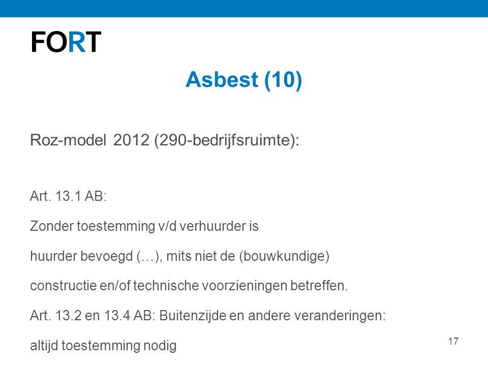 Asbest (10) Roz-model 2012 (290-bedrijfsruimte): Art. 13.1 AB: