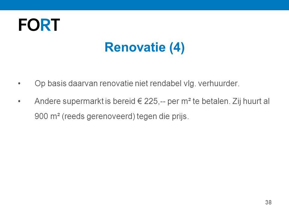 Renovatie (4) Op basis daarvan renovatie niet rendabel vlg. verhuurder.
