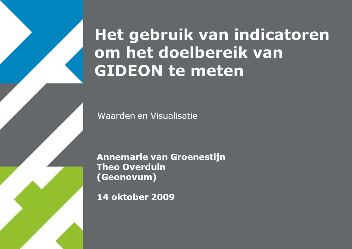Het gebruik van indicatoren om het doelbereik van GIDEON te meten