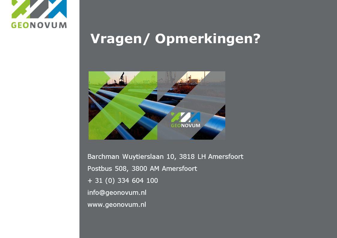 Vragen/ Opmerkingen Barchman Wuytierslaan 10, 3818 LH Amersfoort