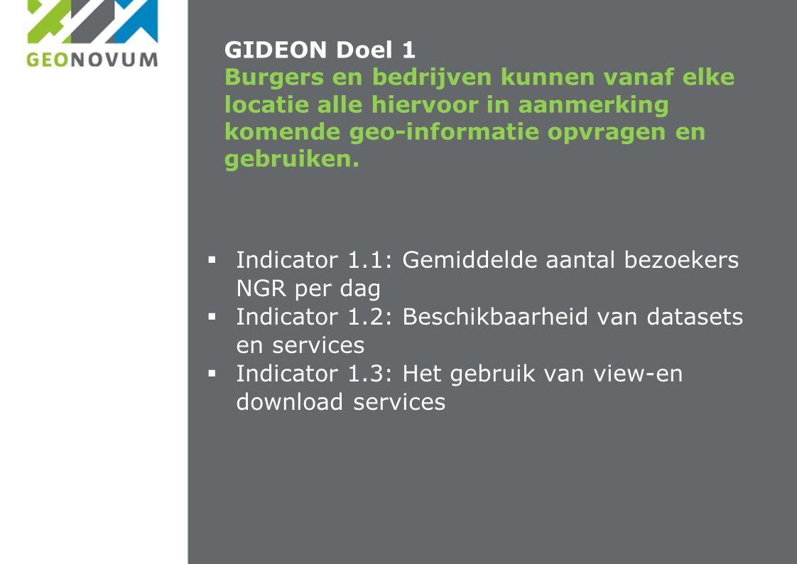 GIDEON Doel 1 Burgers en bedrijven kunnen vanaf elke locatie alle hiervoor in aanmerking komende geo-informatie opvragen en gebruiken.