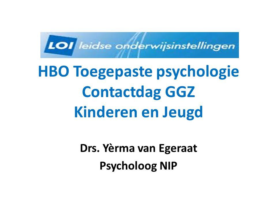 HBO Toegepaste psychologie Contactdag GGZ Kinderen en Jeugd