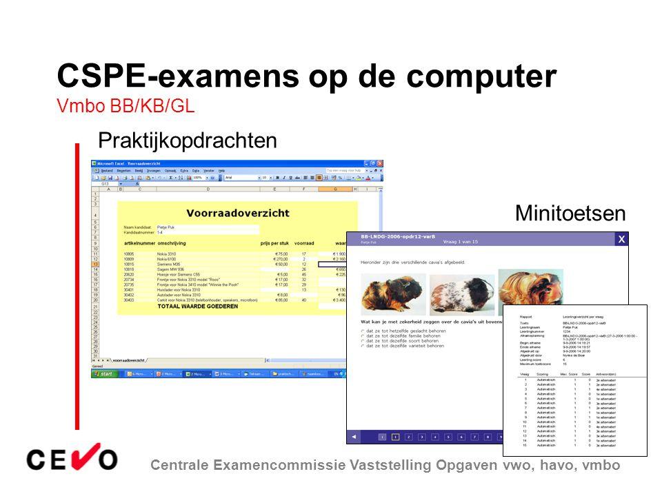 CSPE-examens op de computer Vmbo BB/KB/GL