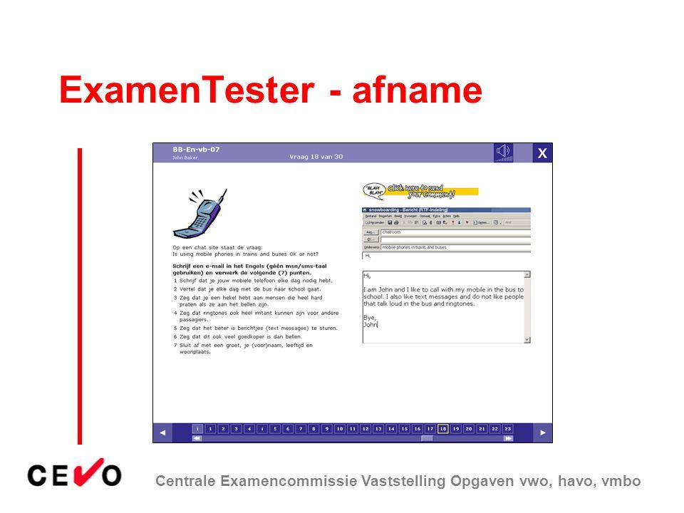 ExamenTester - afname