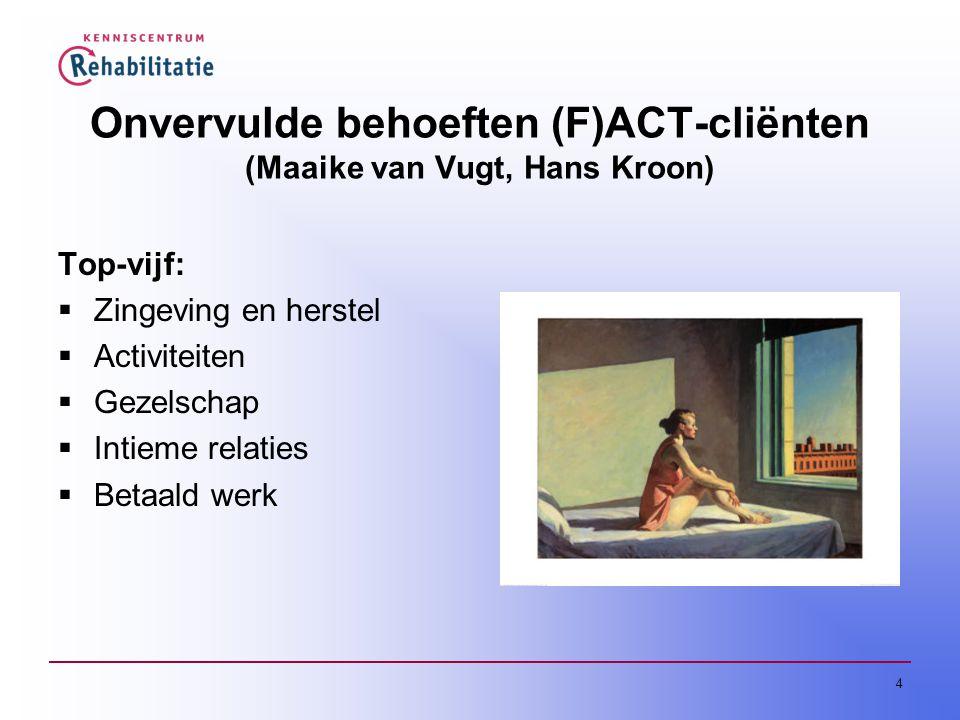 Onvervulde behoeften (F)ACT-cliënten (Maaike van Vugt, Hans Kroon)