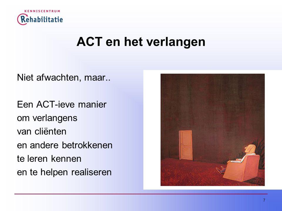 ACT en het verlangen Niet afwachten, maar.. Een ACT-ieve manier