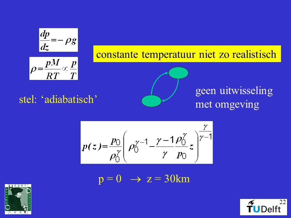 constante temperatuur niet zo realistisch