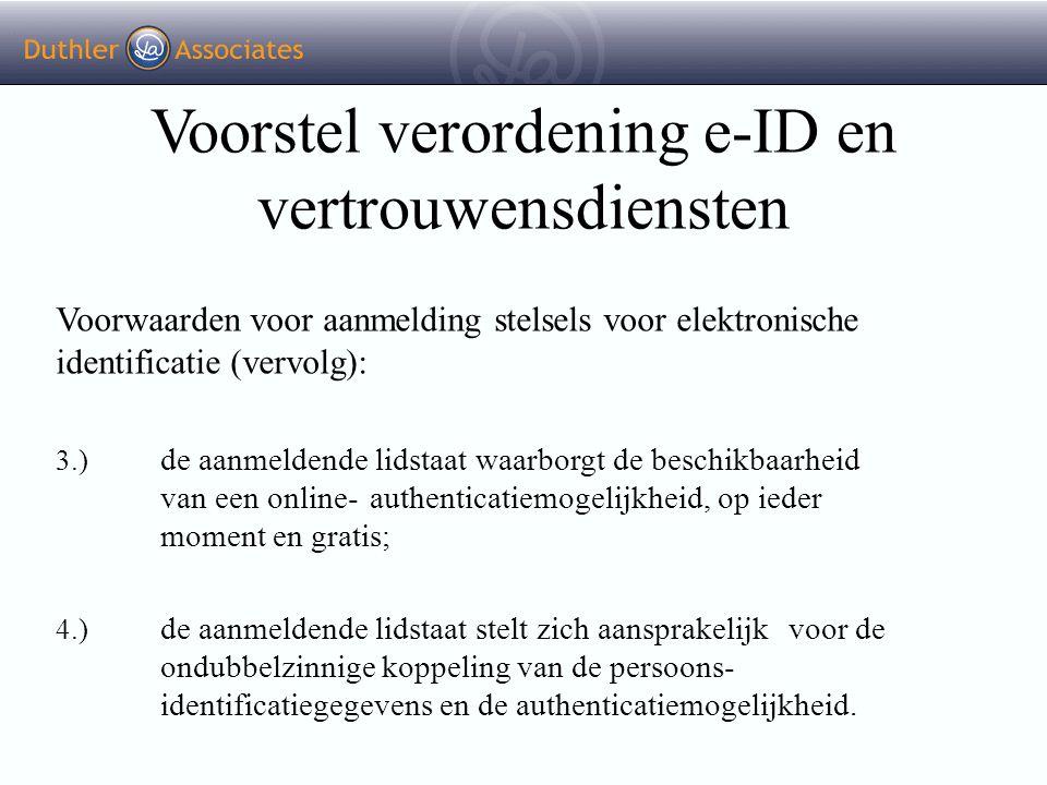 Voorstel verordening e-ID en vertrouwensdiensten