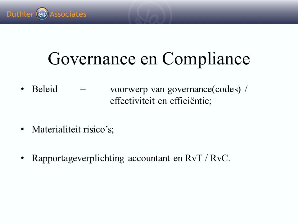 Governance en Compliance