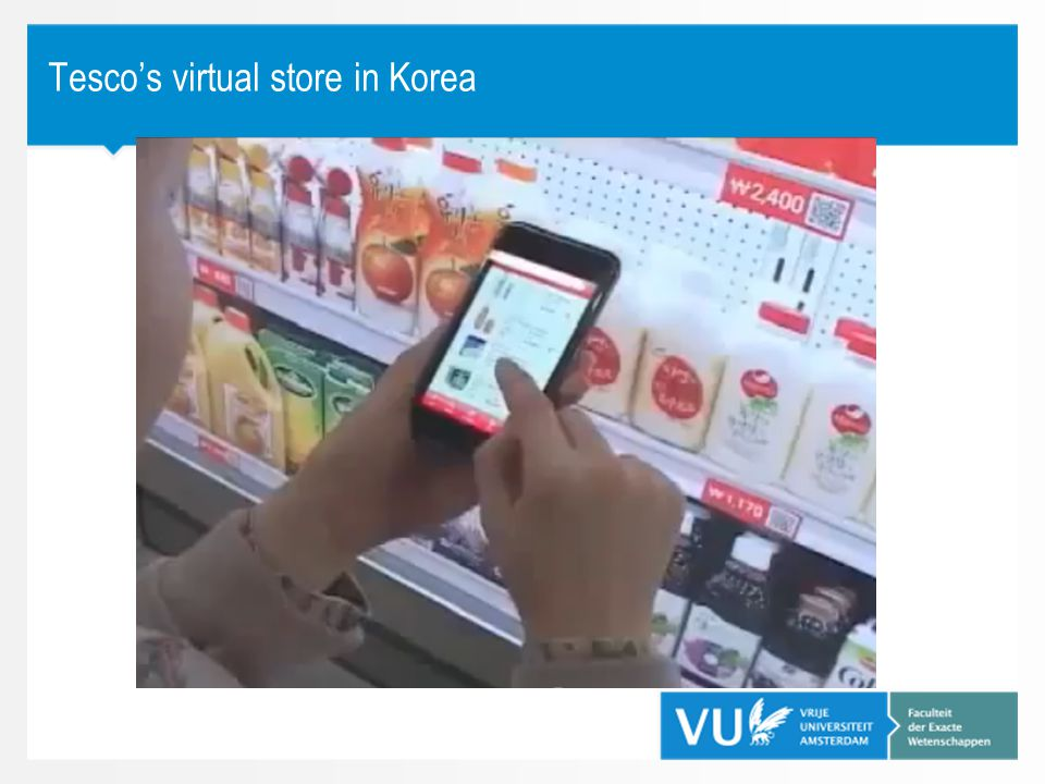 Tesco's virtual store in Korea