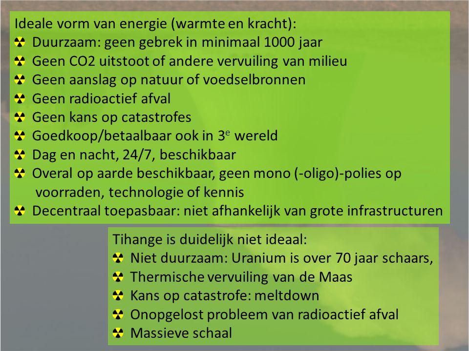 Ideale vorm van energie (warmte en kracht):