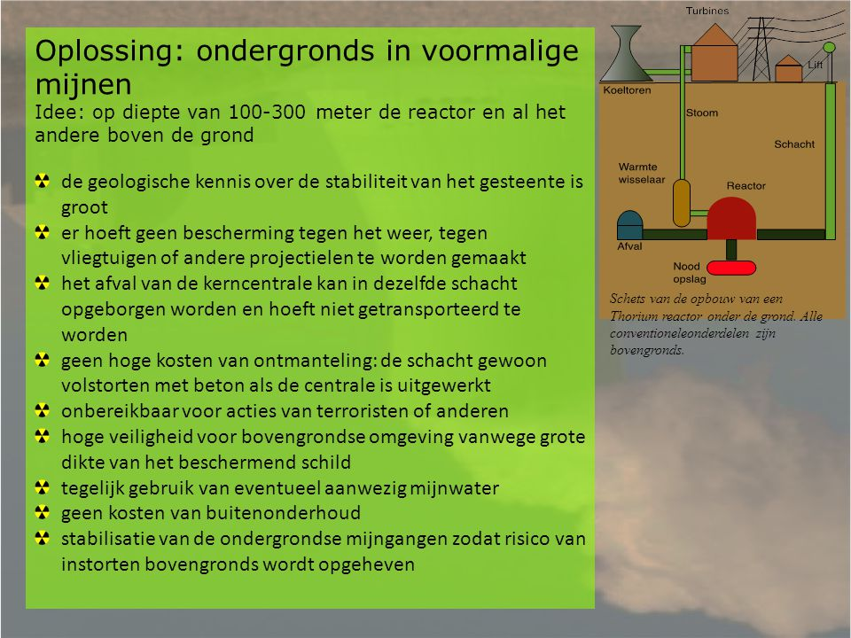 Oplossing: ondergronds in voormalige mijnen