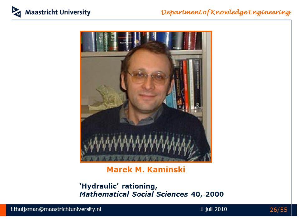 Marek M. Kaminski 'Hydraulic' rationing,