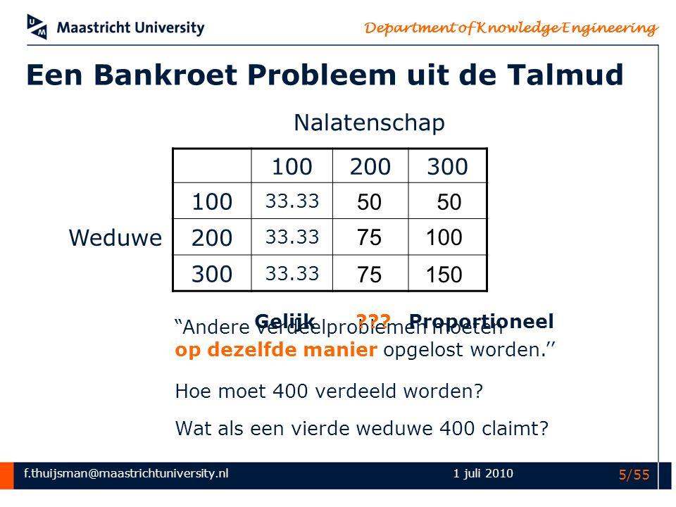 Een Bankroet Probleem uit de Talmud