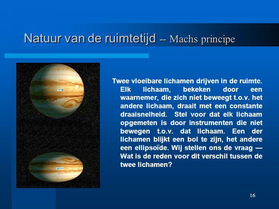 Natuur van de ruimtetijd -- Machs principe