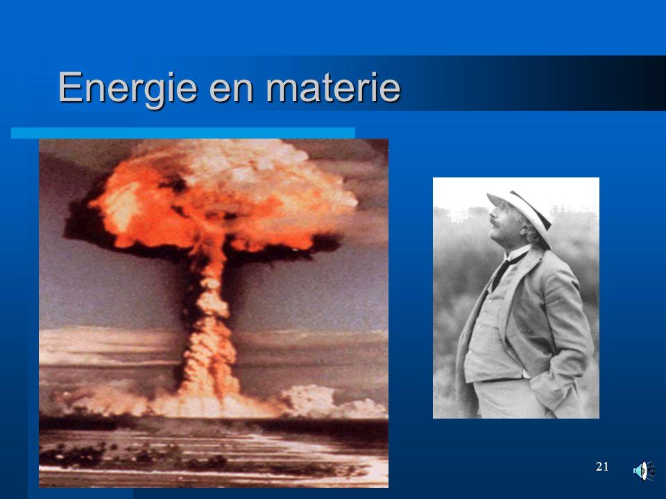 Energie en materie