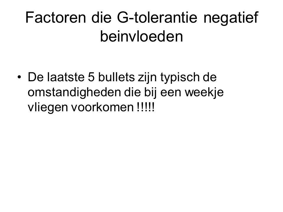 Factoren die G-tolerantie negatief beinvloeden
