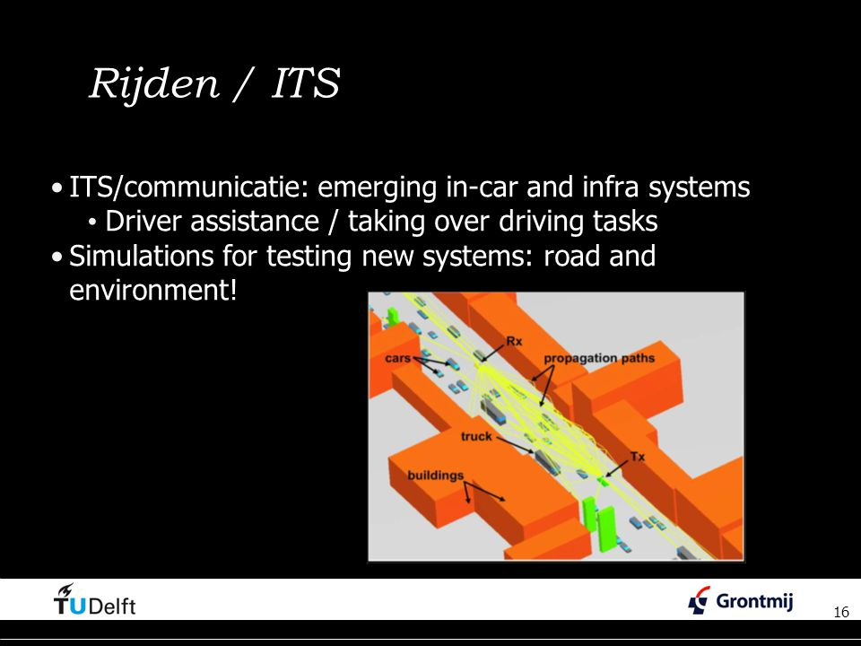 Rijden / ITS ITS/communicatie: emerging in-car and infra systems