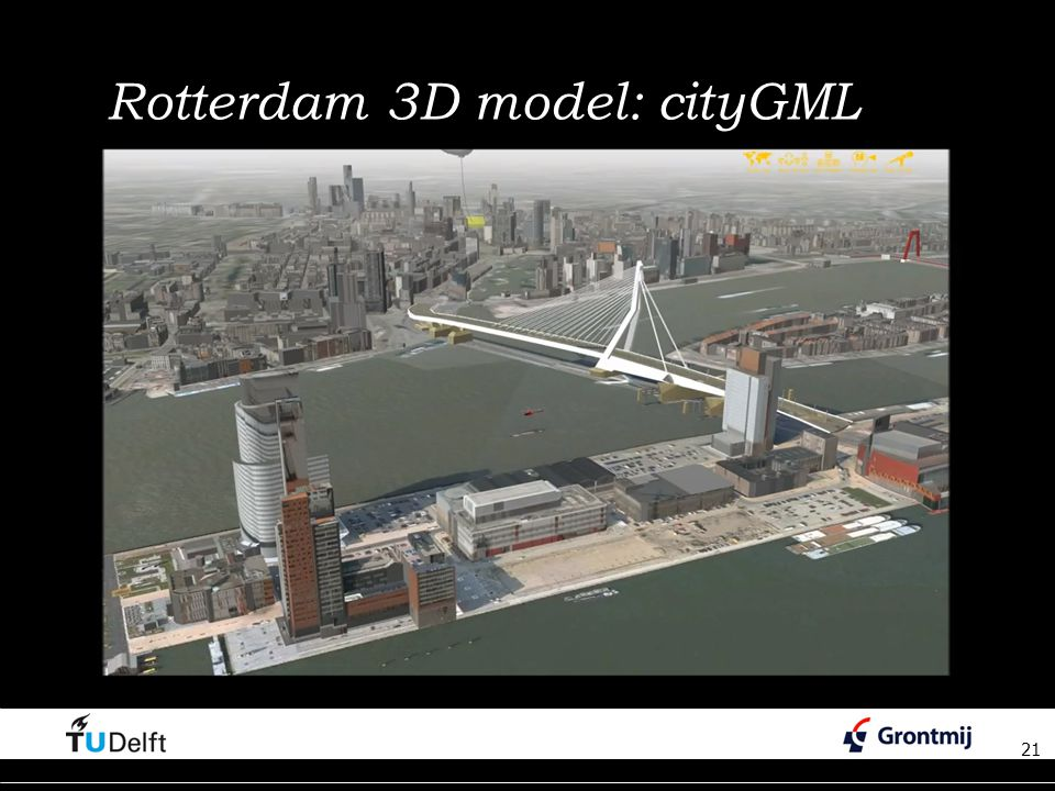 Rotterdam 3D model: cityGML