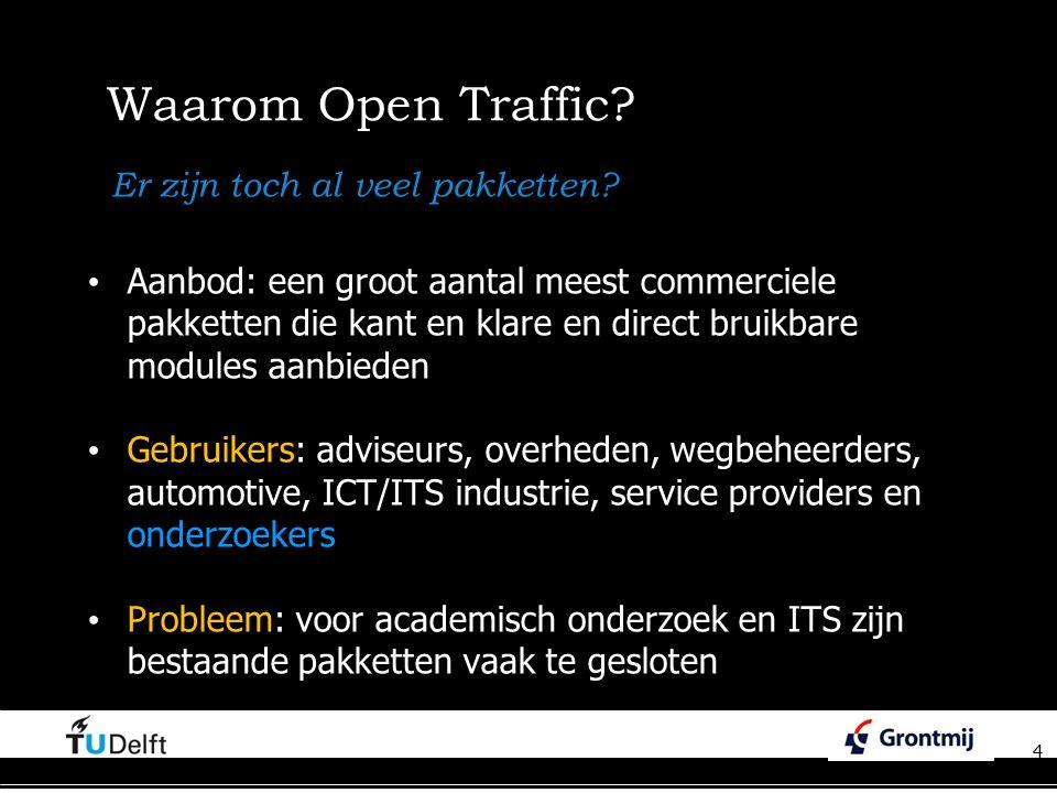 Waarom Open Traffic Er zijn toch al veel pakketten