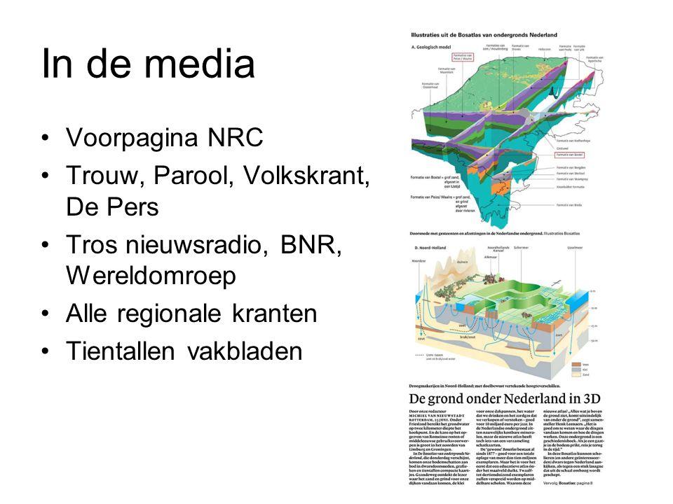 In de media Voorpagina NRC Trouw, Parool, Volkskrant, De Pers