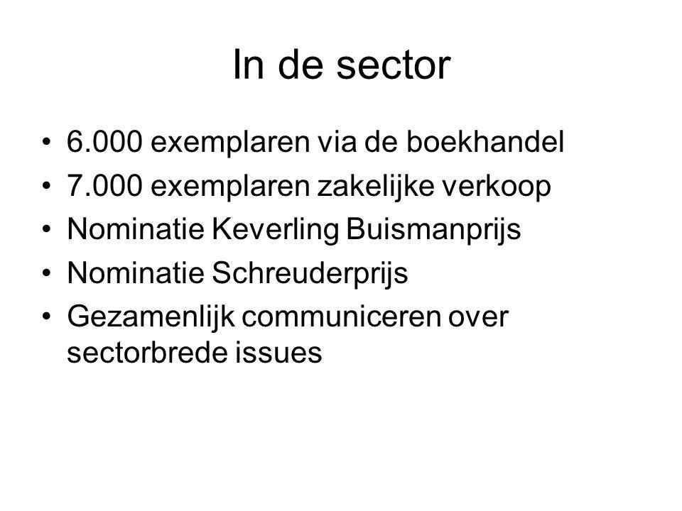 In de sector 6.000 exemplaren via de boekhandel